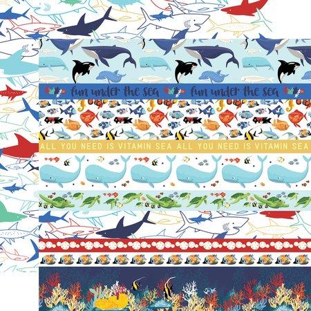 Carta Bella - Fish are Friends Border Strips 12x12 Paper