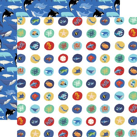 Carta Bella - Fish are Friends Deep Sea Circles 12x12 Paper