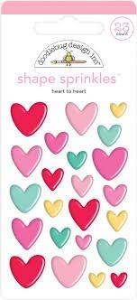 Doodlebug - Heart to Heart Shape Sprinkles