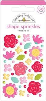 Doodlebug - Roses are Red Shape Sprinkles