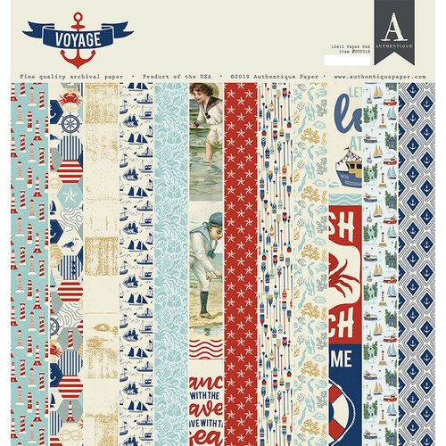 Authentique-Voyage 12x12 paper Pad