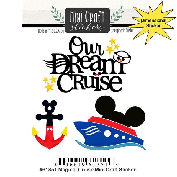 Scrapbook Customs - Magical Cruise Mini Craft Stickers
