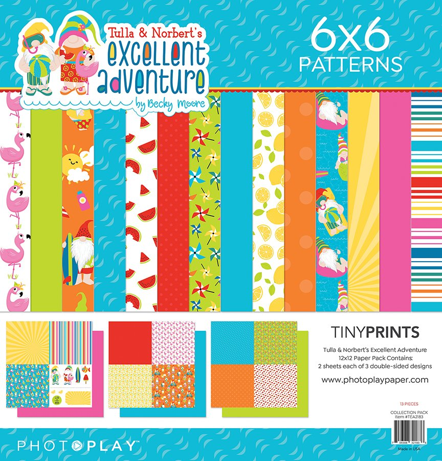 Photo Play - Tula & Norbert's Excellent Adventure  Tiny Prints Paper Pack