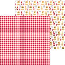 Doodlebug Design - Bar-B-Cute Picnic Plaid 12x12 Paper
