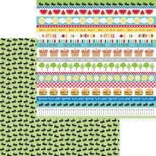 Doodlebug Design - Bar-B-Cute Picnic Parade 12x12 Paper