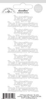 Doodlebug - Happy Halloween Lily White Cardstock Stickers