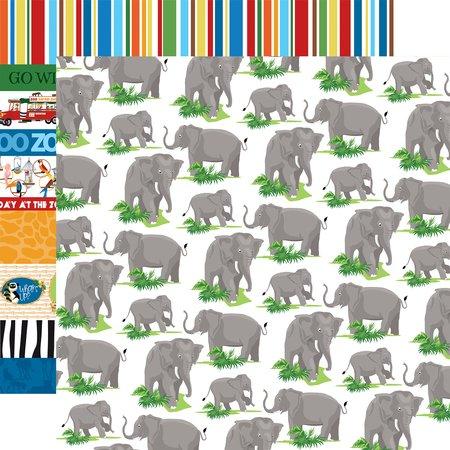 Carta Bella - Zoo Adventure Elephants 12x12 Paper