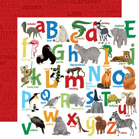 Carta Bella - Zoo Adventure Animal Alphabet 12x12 Paper