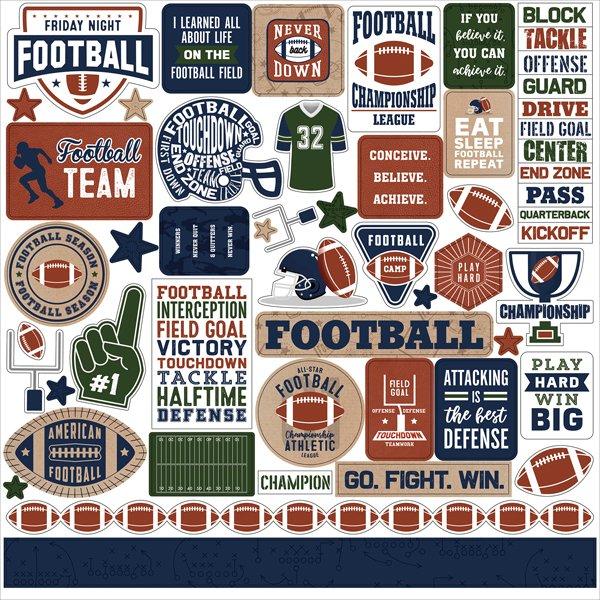 Echo Park - Football Element Stickers 12x12