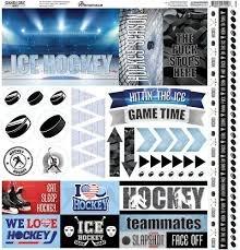 Reminisce - Game Day Hockey 12x12 Stickers