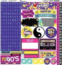 Reminisce - 90's Flashback 12x12 Stickers