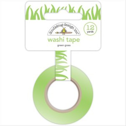 Doodlebug - Green Grass Washi Tape