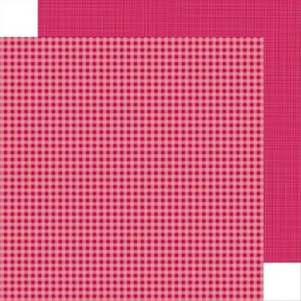 Doodlebug Designs - Ruby Gingham Linen 12x12