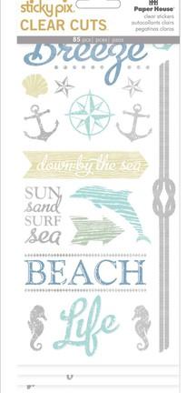 Paper House - Beach Sticky Pix Clear Cuts