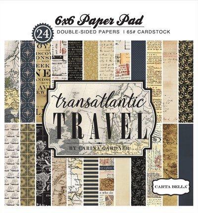 Carta Bella-Transatlantic Travel 6x6 Pad