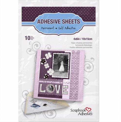 Scrapbook Adhesives - 4x6 self adhesive sheets 10 piece