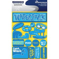 Reminisce - Waterpark 3D Die cut Stickers
