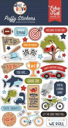 Echo Park - All Boy Puffy Stickers