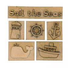 Foundations Decor - Sail the Sea Shadow box Kit