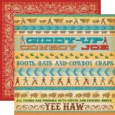 Carta Bella - Cowboy Country Giddy Up 12x12 paper
