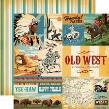 Carta Bella - Cowboy Country Journaling Cards 12x12 paper