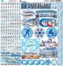 Reminisce - Snow Day 12x12 Stickers
