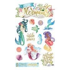 Paper House - Mermaids 3D Die Cut Stickers