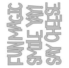 Simple Stories - Say Cheese 4 Fun Words Large Metal Dies
