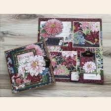 Graphic 45 - Blossom Tri-Fold Waterfall Folio Album & Layout Kit