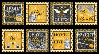 Blank Quilting - Show me the Honey Panel 1337 44
