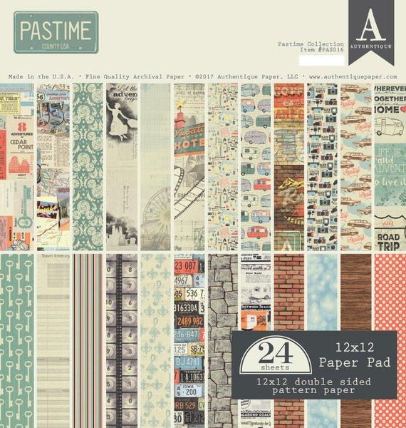 Authentique - Pasttime 12x12 Paper Pad