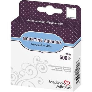 Scrapbook Adhesives - Mounting Squares - 500 White, permanent