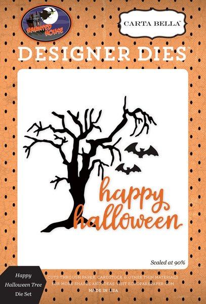 Carta Bella - Haunted House: Happy Halloween Tree Die Set