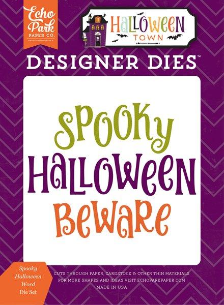 Echo Park - Halloween Town Spooky Halloween Word Die Set