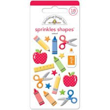 Doodlebug - School Sprinkles Shapes