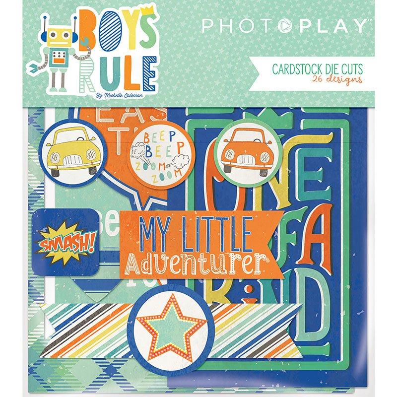 Boys Rule - Cardstock Die Cuts