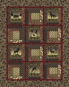 Shadow Mountain: Cabin in the Mountain Quilt Kit (53x67)