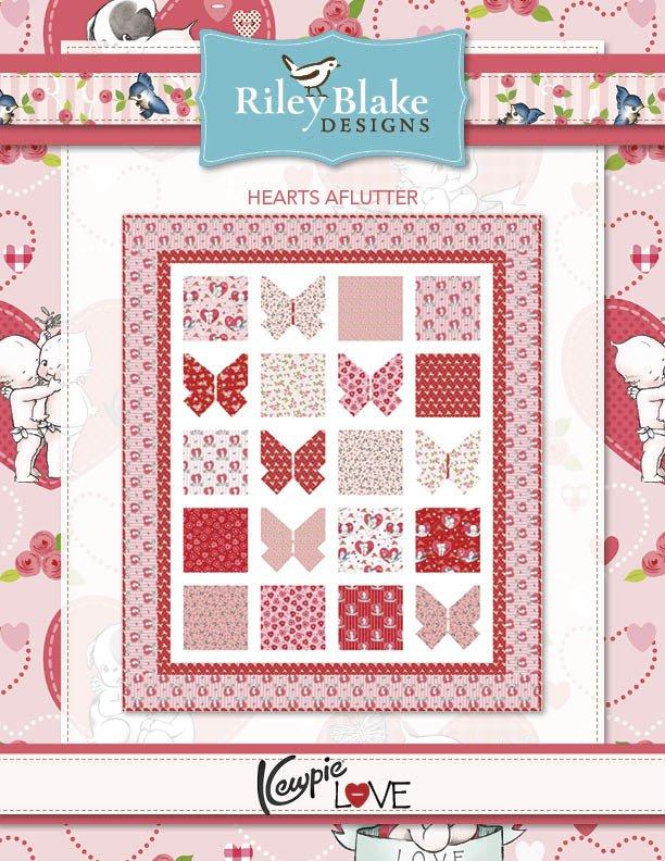 Hearts A Flutter quilt kit 64x76