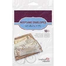 Scrapbook Adhesives Keepsake Envelopes Clear