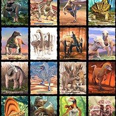 Blank Quilting - Tyranno-Chorus Dinosaur Blocks Black 1545 99 Panel 1.63 yard