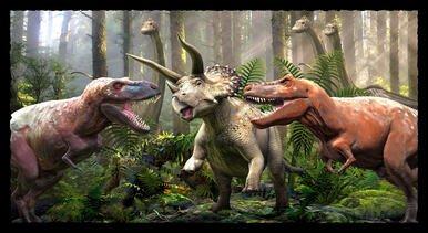 Blank Quilting - Tyranno-Chrorus Dinosaur Panel 1550P 90