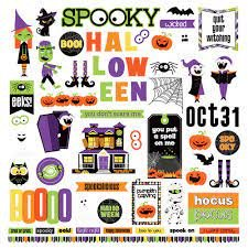 Photo Play - Monster Mash Element Stickers 12x12