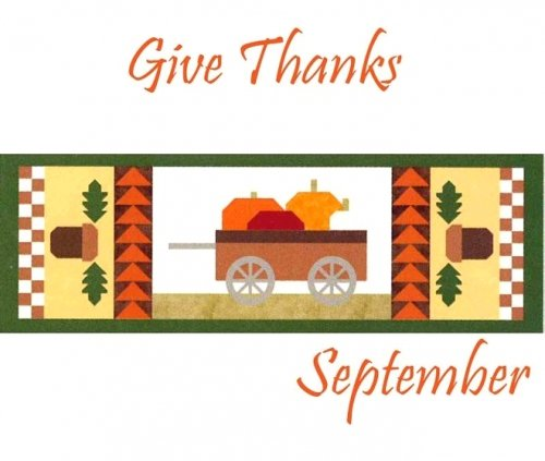 Riley BlakTable Runner of the Month-Give Thanks 15 x 42