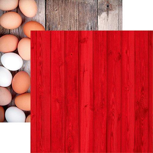 Reminisce - Farm Fresh Big Red Barn 12x12 Paper