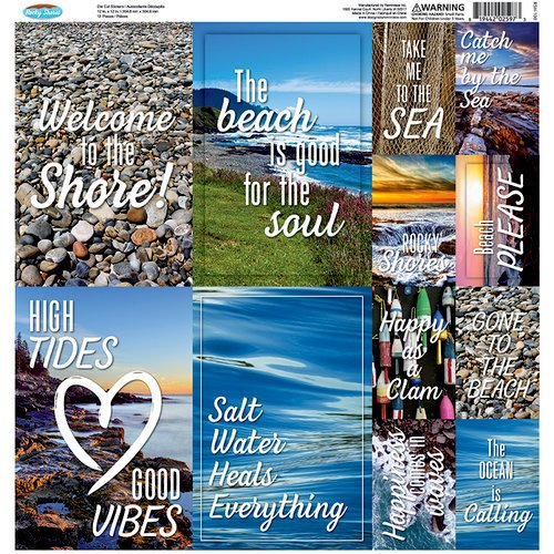 Reminisce - Rocky Shores 12x12 Die Cut Stickers