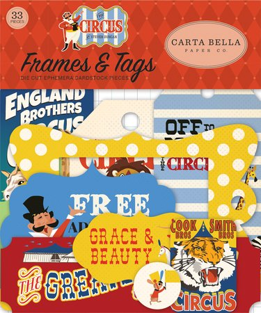 Carta Bella - The Circus Frames & Tags Ephemera