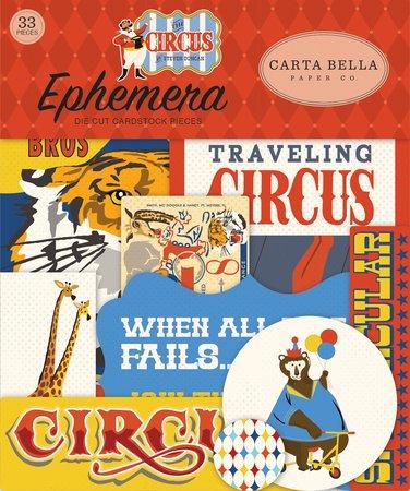 Carta Bella - The Circus Ephemera Die Cut Pieces