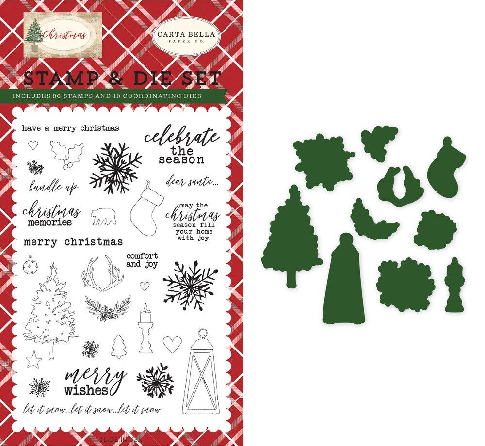 Carta Bella - Christmas Memories Die & Stamp Set