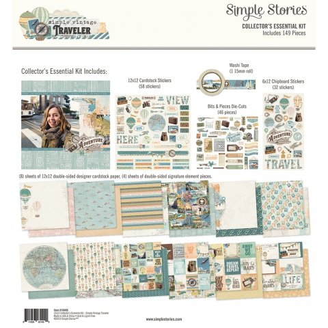 Simple Stories - Simple Vintage Traveler Collector's Essential Kit