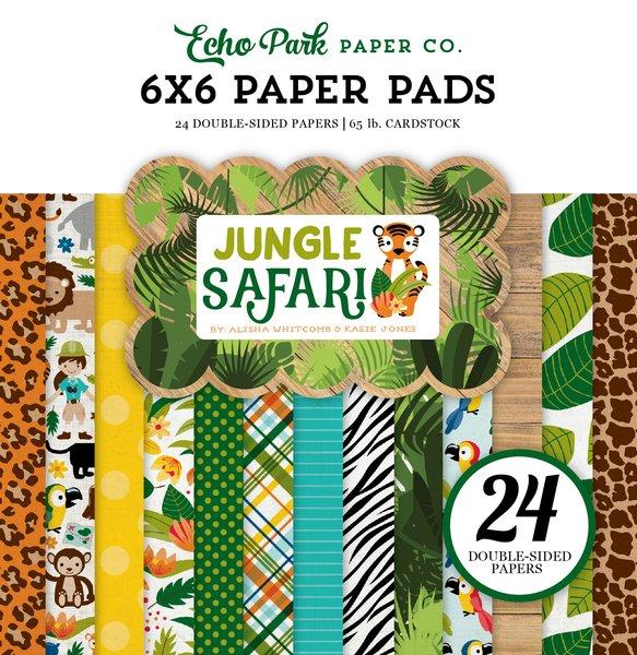 Echo Park-Jungle Safari 6x6 Paper Pad